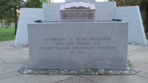 Salem witch hunts monument